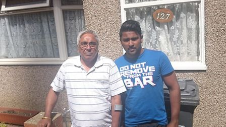 Dad Balbir (left), 64, and son Manota, 27, have lived in their home for 10 years
