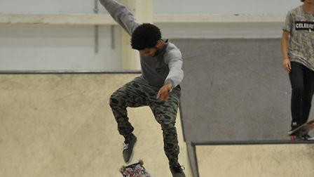 Skateboarders at Sporthouse