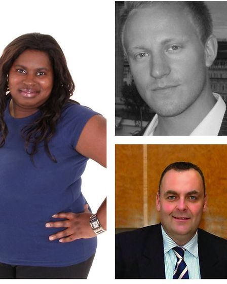 Cllrs Sanchia Alasia (left), Sam Tarry (top right) and Liam Smith (bottom right) are among the five