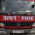 An elderly couple have escaped unharmed from a house fire in Kingsbury this morning