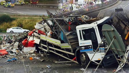 Nine crashes in just over two weeks on the A13 have led to safety fears