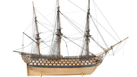 This model ship, which once belonged to Elizabeth Fry, is being auctioned