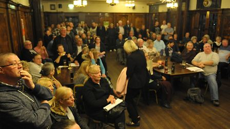 More than 130 people packed into the Eatsbrook Pub, Dagenham, for Thursday's public meeting