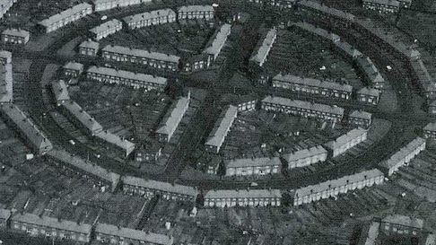 An aerial view of the Becontree Estate (pic courtesy of Valence House Museum/LBBD Archive)