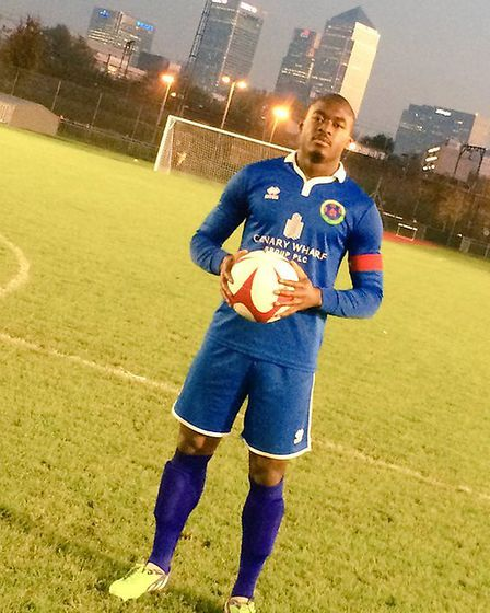 Tunde Adewunmi netted a hat-trick in Sporting Bengal's FA Vase win over Southall (pic: Sporting Beng