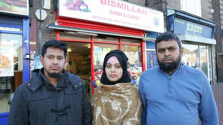 Ali Shaik, Hamida Bhuyia and Melon Sikder. from Bismillah Cash and Carry