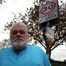 Dagenham resident Barry Watson complained about a sign that was bending dangerously