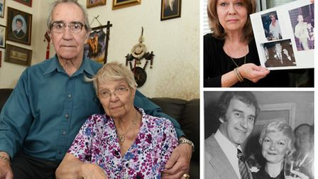 Local victims of the contaminated blood scandal: Stan and Brenda Buzer (left), Angela Farrugia with