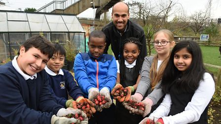 Pupils at Northbury Primary School in Barking have been growing oca as part of a nationwide experime