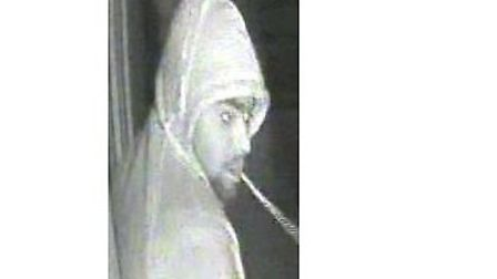 An image of one of the men police want to speak to in connection with an alleged burglary in Dagenha