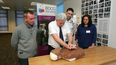 Local companies joining together for first aid trianing, Aleksej Chrenov, from Amber Bakery. Micha