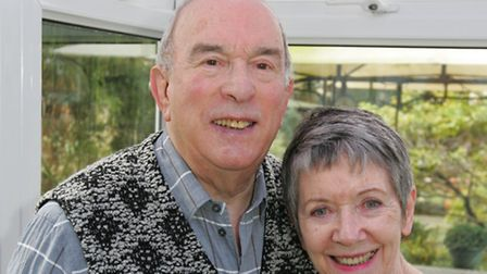 Terry Justice with his wife Maire