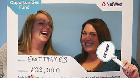 Corrine Hutcheson, enterprise manager for East Thames and Nicola Brown, co-ordinator at Starting Poi