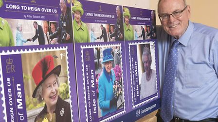 Arthur Edwards with some of his pictures which have been turned into stamps (Picture: Paul Edwards/T
