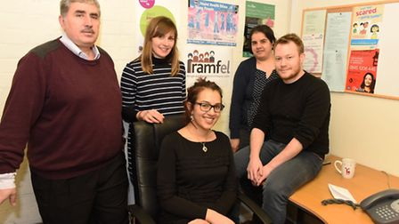 The staff of the migrant workers charity RAMFEL at their base in Ilford. Nihad Fathi, Anna Tucket,
