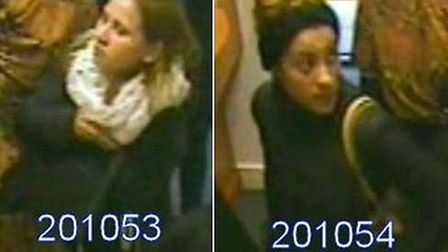 Police are searching for these two women in connection with the theft (Picture: Metropolitan Police)