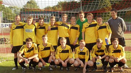 Oliver Muldoon (front row, far left) as a year 11 pupil at Sanders in 2010