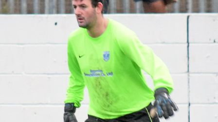 Barking player-manager Glen Golby saved a penalty against Bowers (pic: Terry Gilbert)