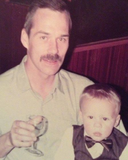 Barry pictured with youngest son Paul