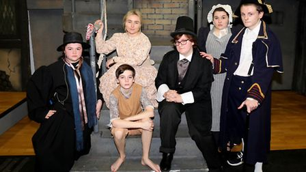 Students in the Jo Richardson School production of Oliver!