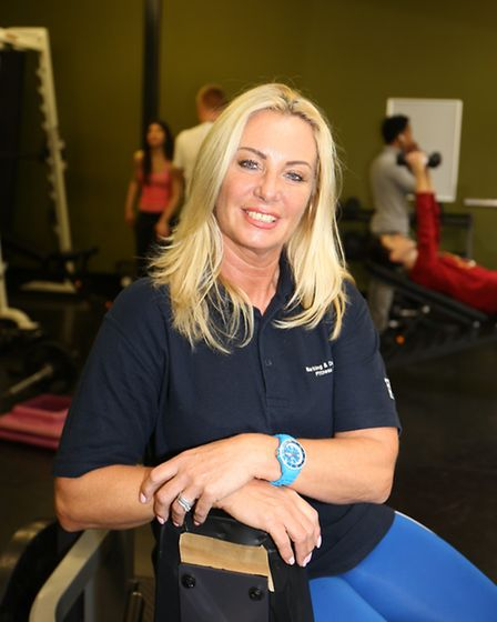 Barking and Dagenahm College apprentice Karen Boxall, 50, works at the fitness centre