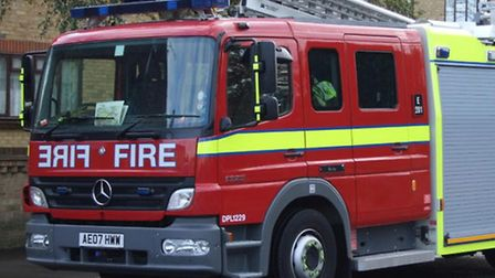 Firefighters attended a recycling plant blaze in River Road, Barking, this morning