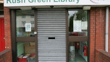 Rush Green Library is now used for housing following its closure in December 2013