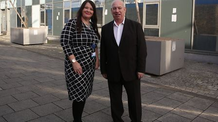 Karen West-Whylie, chief executive officer for Barking Enterprise Centre, with Ian Griffiths, busine