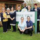 Delighted Park View care home staff with their award