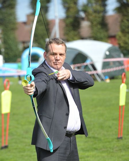 Council leader Cllr Darren Rodwell is hoping his cost-cutting measures will hit the bullseye