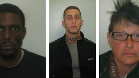 Police are appealing to trace these three individuals Lawrence Allen , Aaron Prainer and Alison Fish