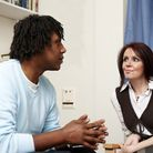 Specialist and patient at a Talking therapy meeting