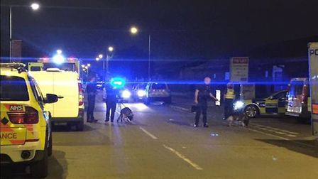 Police broke up an illegal rave in Thames Road, Barking, on Saturday night. Picture: MPS specials