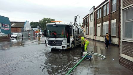 Barking and Dagenham Council staff pumped out water from some of the flooded streets