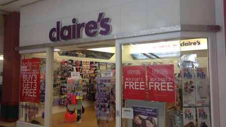 Claire's accessories in Vicarage Field shopping centre, Barking, is closing down next Wednesday.