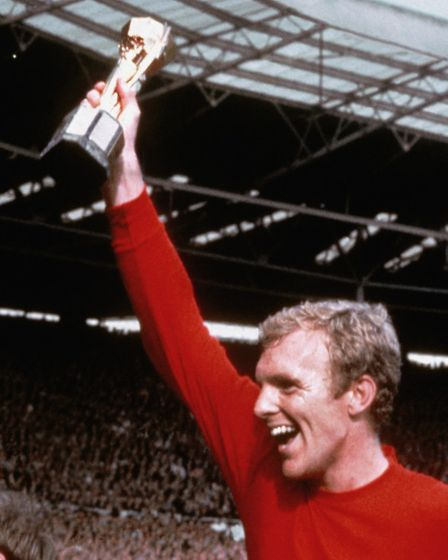 England captain Bobby Moore holds aloft the World Cup (Pic: EMPICS)