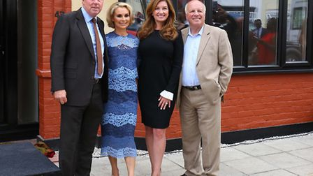 Harry Redknapp, Roberta Moore, Karren Brady and Greg Dyke at the unveiling of the English Heritage b