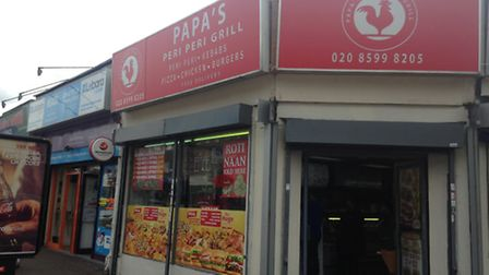 Papa's Peri Peri Grill and neighbouring Amatech Computers and a subletting hairdresser would be demo
