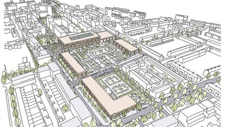 An artist's impression of how Greatfields will look