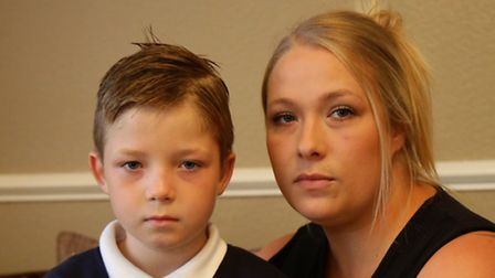 Nicola Cole with her son Liam