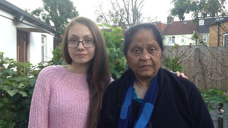 Neighbour Ramona Todersacu, 15, rescued Hasumati Patel after hearing her cries for help.