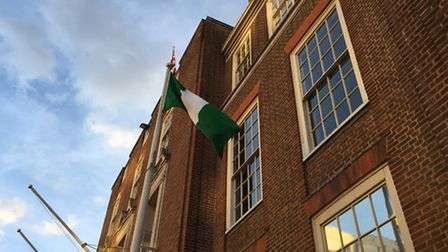 The Nigerian flag outside Barking town hall
