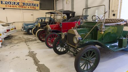 Some of the cars on display at the Ford Heritage Centre in Dagenham (Pic: Spencer Griffiths)