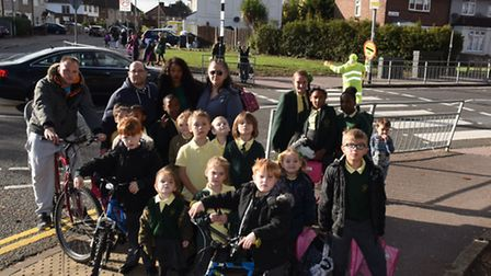 Parents and children concerned about the crossing