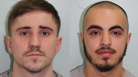 Jay Smith, 22, left, of Bostall Lane, and Lutfi Zabitler, 20, of Hothfield Place, right, were both j