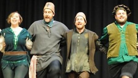 Barking Mad cast performing in last year's pantomime, Robin Hood