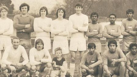 The Singapore Lions before their match against Dagenham in April 1972.
