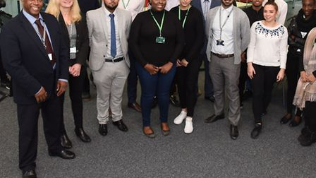 Students from Barking and Dagenham College competed in a Dragon's Den contest. Picture: Ken Mears.