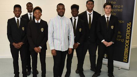 Director TJ with students from Eastbrook Comprehensive involved in the SQUAD project