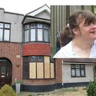 Donna Stringer, inset, was seriously injured in the arson attack on Lynwood Care Home, main image.